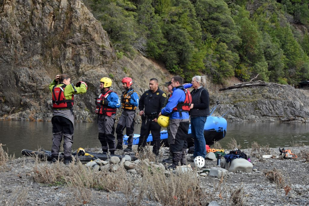 The SHCTR team works with the Mendocino County Sheriff's Office on the details for recovering the body.