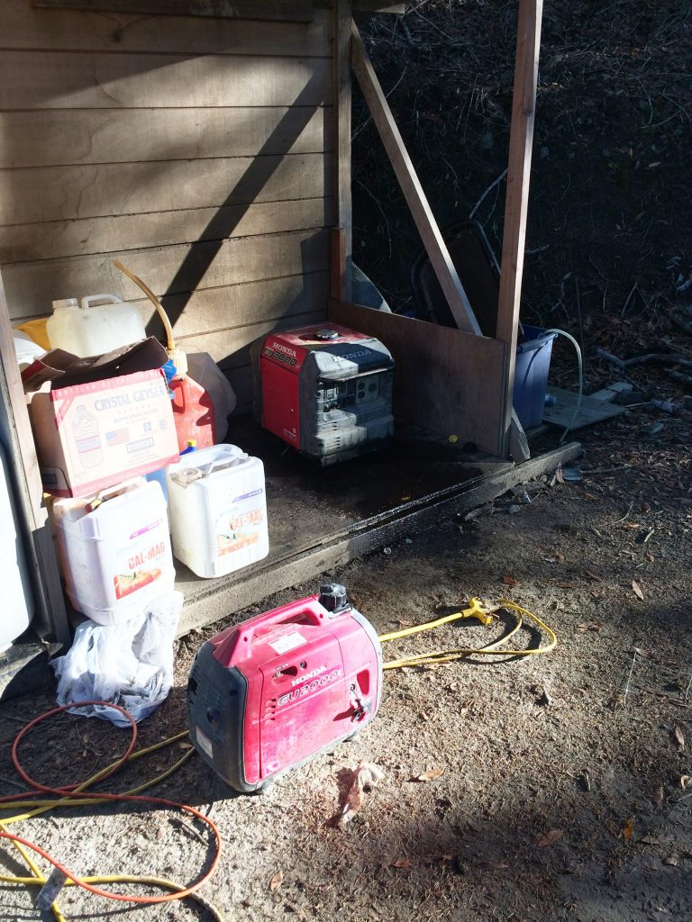 Generator leaking oil marijuana hcso