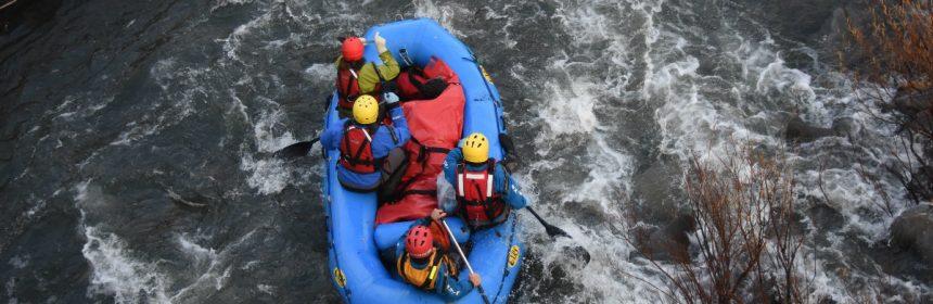 SHCTR guiding the body through rapids.