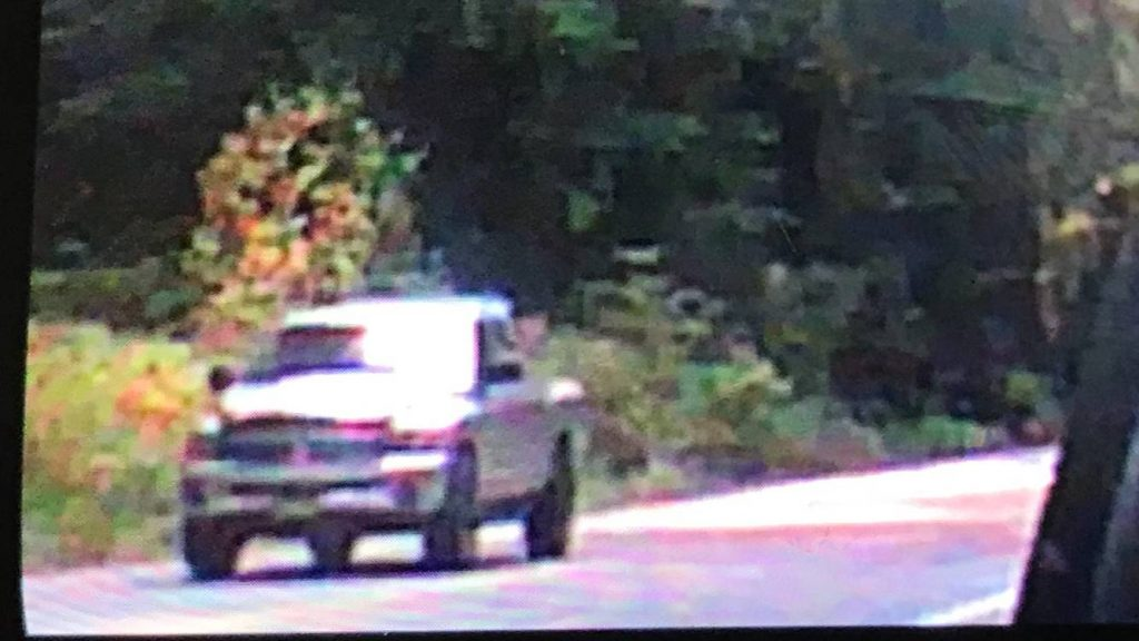 Suspect vehicle silver truck