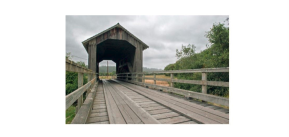 Zanes Ranch covered bridge from Humboldt County Dept of Public works