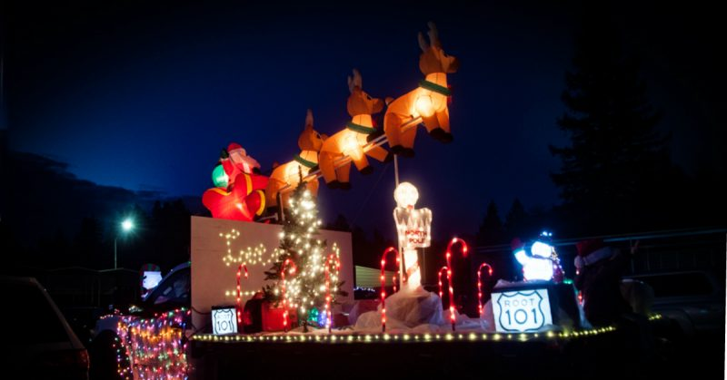 Christmas LIghted Parade Garberville 2018