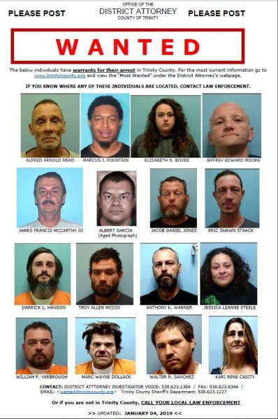 Most Wanted poster Trinity County