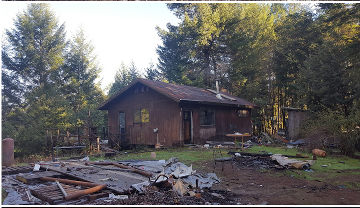 The cabin currently. [Photo by Marcus Schaible]