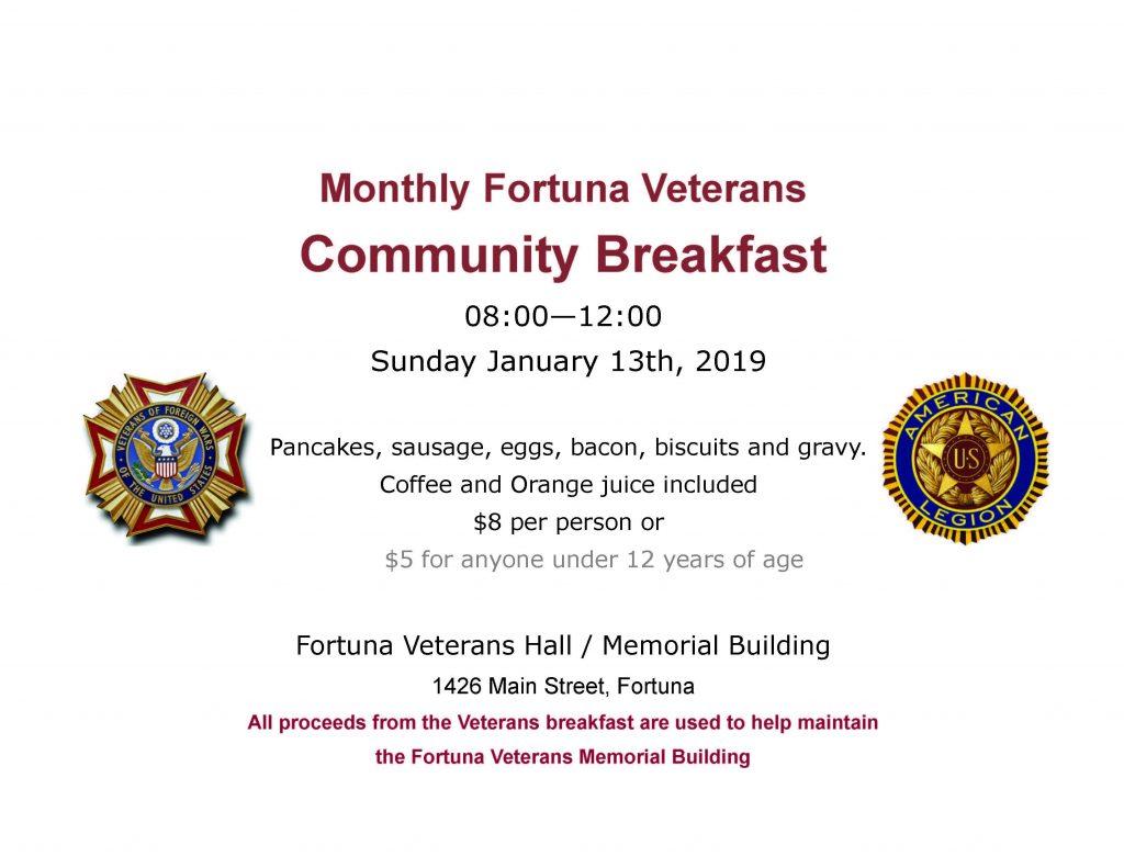 Fortuna community breakfast