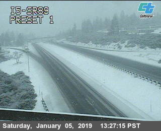 Caltrans Traffic Cam near Mount Shasta.