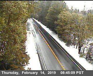 Hwy 199 near the Oregon border. (SeeCaltrans Traffic Cam for latest image)