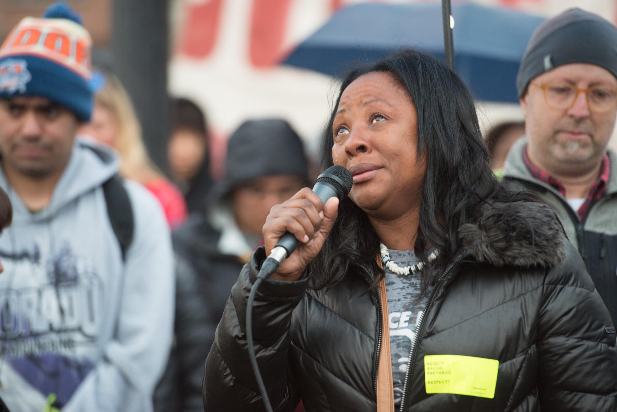 Charmaine Lawson The Mother Of Slain Hsu Student Gathers