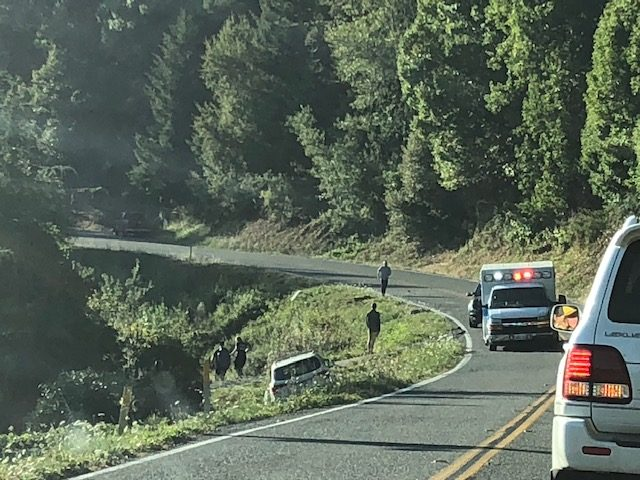 UPDATE Monday: Major Injury] Crash Just North of Arcata on