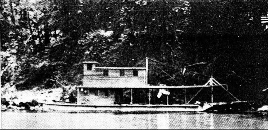 The Poison Oak, a supply boat on the EEl River, early 1900's