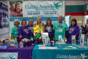 picture of the Visiting Angels team of fundraisers for the Walk to End Alzheimer's