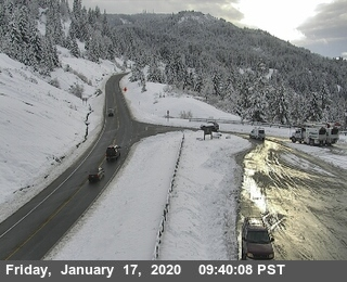 Snow off the road at Berry Summit