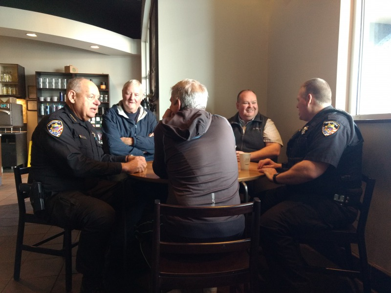 Chief Downey meeting with community members.