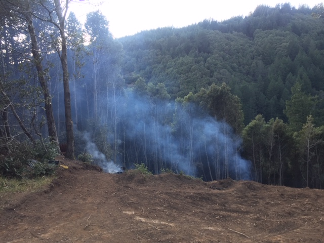 Debris fire is Shelter Cove