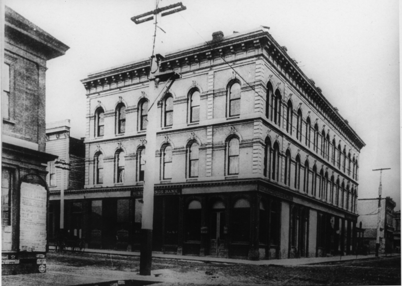 Old photo of Buhne building