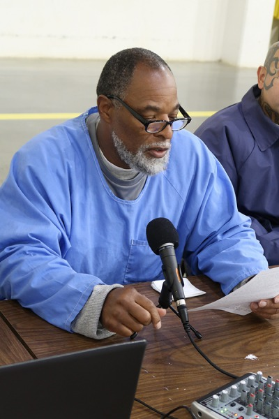incarcerated student Barry Woods wants to use his voice in the podcast to stop the transition of youth from coming to prison. Photo courtesy of Paul Critz.