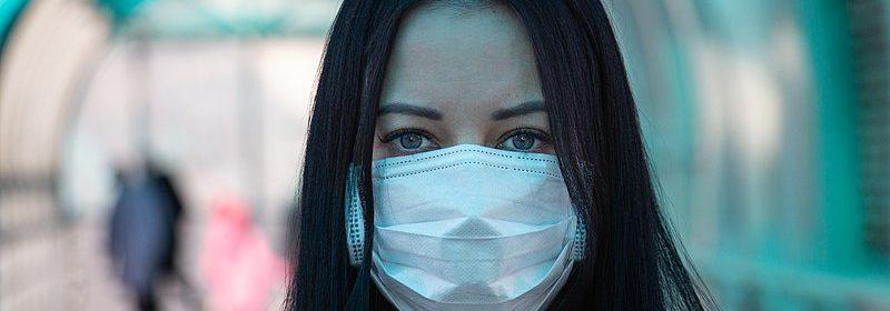 coronavirus covid-2019 Girl in mask fear