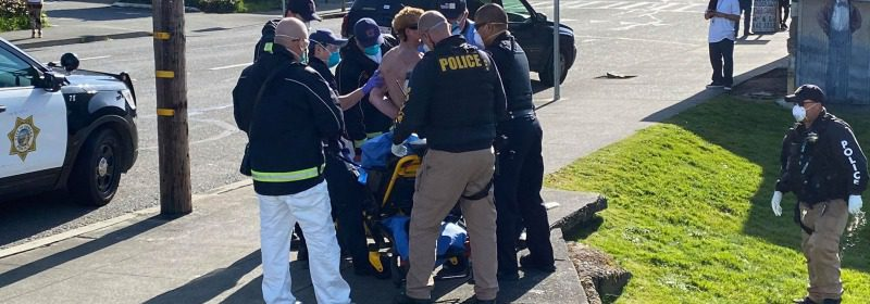 Man being detained by EPD