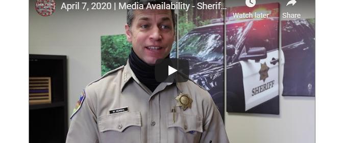 Sheriff Honsal Covide update