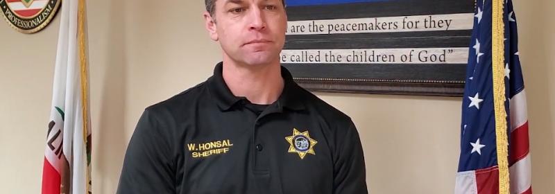 Sheriff Honsal responding to Media questions April 9