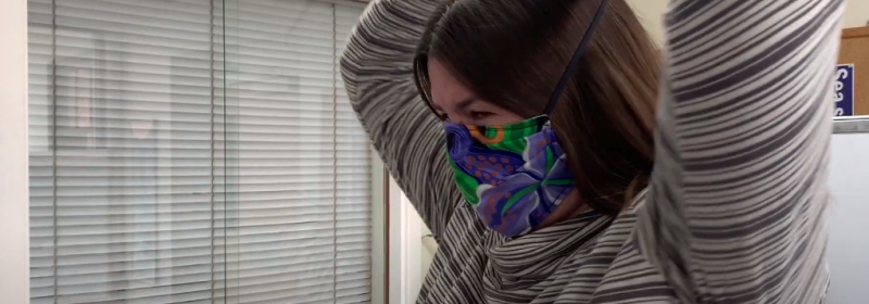 In today's COVID Minute, Public Health Nurse Erica Dykehouse explains when and how to properly wear a face covering or mask.