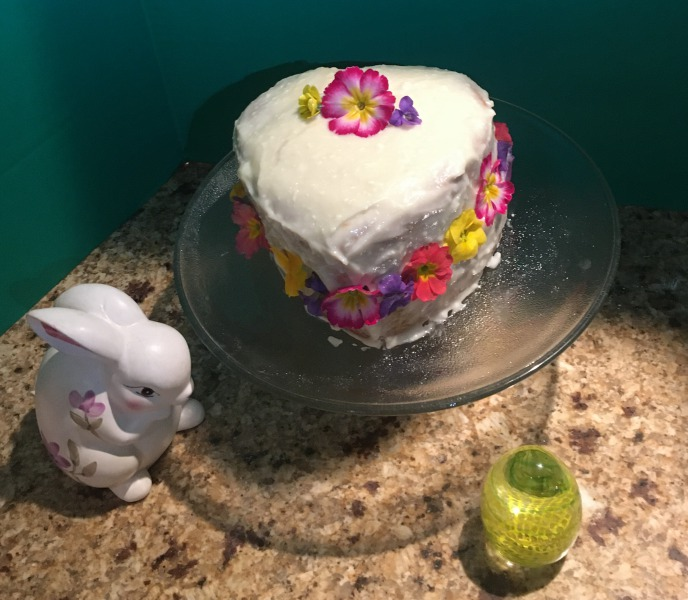 Cake with flowers Frugal Foodie Shanna Archibold