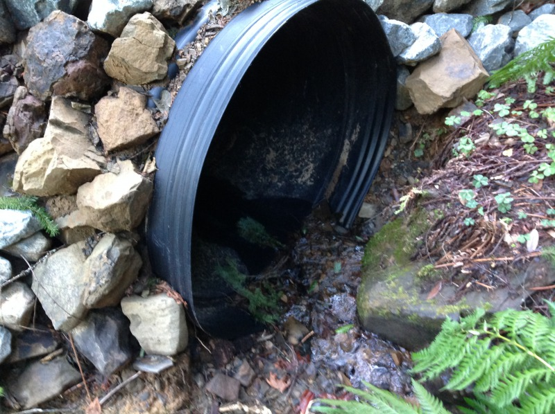 Finished culvert. [Photo provided by Jane Doe]