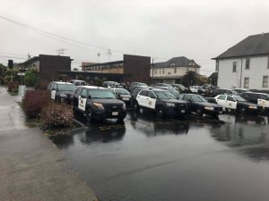 Police staging