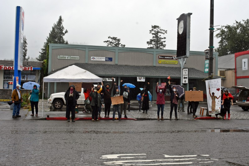 Southern Humboldt protest