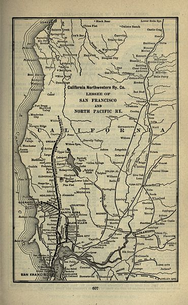 1901 map of the NWP tracks.