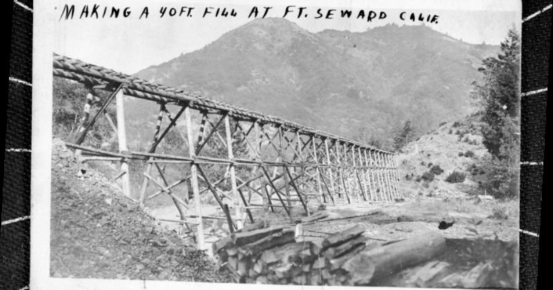 Making a 40 ft. Fill at Ft. Seward Calif.