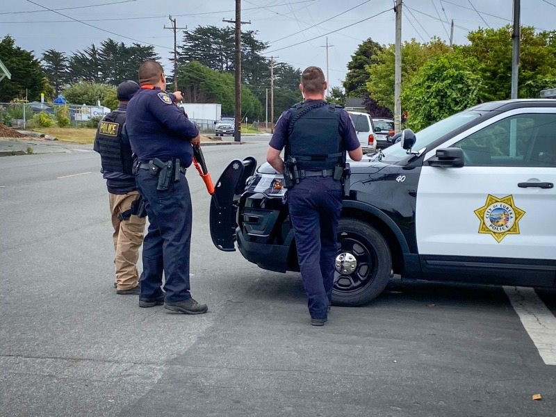 EPD at the scene with an armed individual.