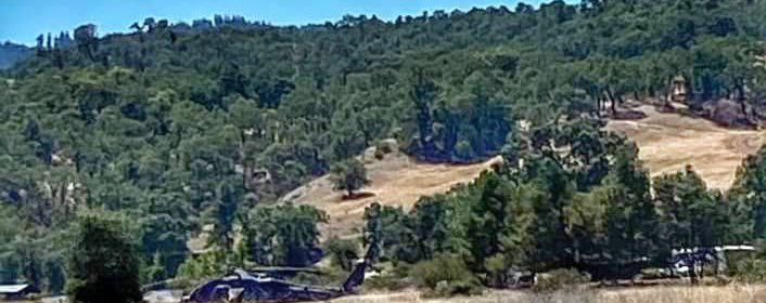 A helicopter involved in today's Round Valley marijuana raid [Submitted by Round Valley resident who asked to go unnamed]