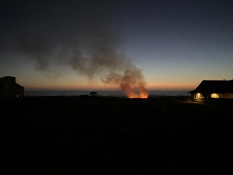 Vegetation Fire on Sand Point in the McKinleyville area