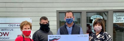 Valley Pacific Petroleum Services stepped up to the plate in a big way to support the work of Humboldt Sponsors, with a generous $5,000 donation.