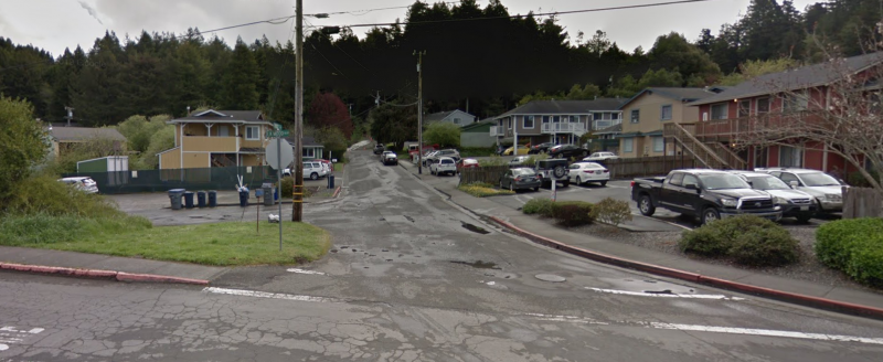 A petition with more than 1,000 signatures calls for the renaming of Arcata's LK Wood Boulevard. Google Street View