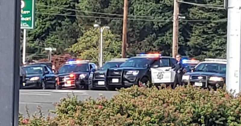 Law enforcement at the arrest of Whipple