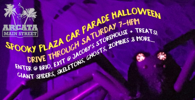 Screenshot of the Spooky Plaza Car Parade Event page on Facebook