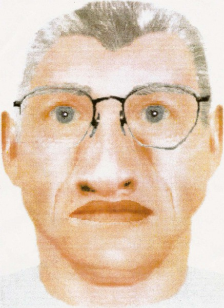 Closeup of the EPD's Sketch of the person of interest in the disappearance of Karen Mitchell.