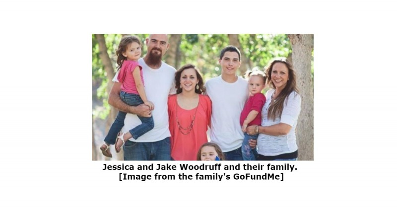 Jessica and Jake Woodruff and their family.