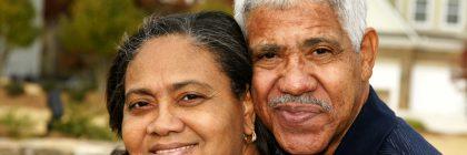 Elderly hispanic couple
