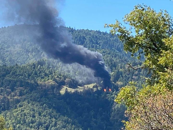Fire near Laytonville