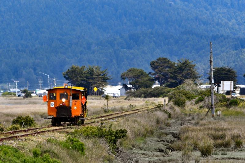 Speeder/Crew Car on the rails in 2019. Photo by Josh Buck, THA Board Member.