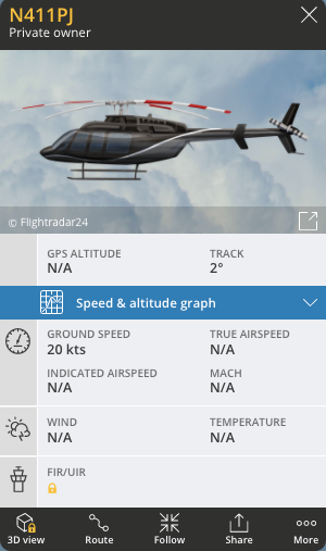 Graphic of a helicopter similar to the one seen yesterday.