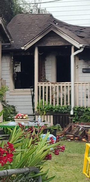 Fire on Pine Drive in Garberville