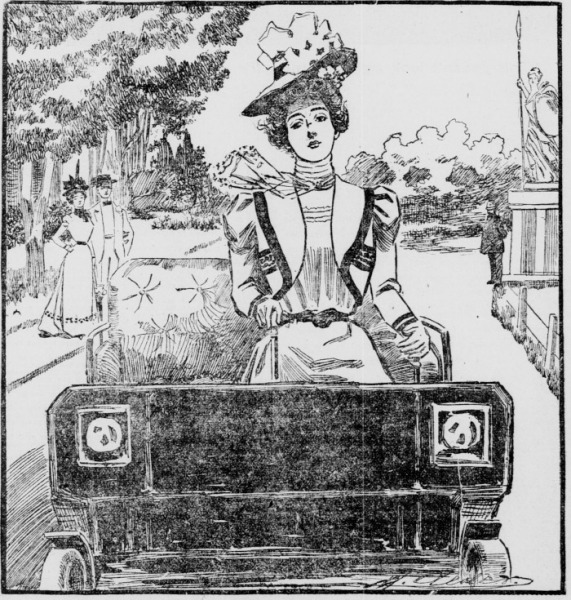 An illustration of the San Francisco appeal of a woman with autism apparently indifferent to the threat to her future appearance of driving without a windshield.