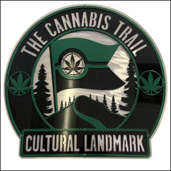 The cannabis trail logo