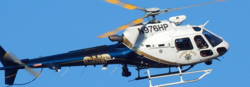 Helicopter at the scene of today's shooting on Bell Springs Road.[Photos by Jacob Whitney]