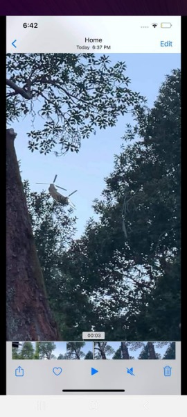Helicopter flying over southwestern Humboldt County