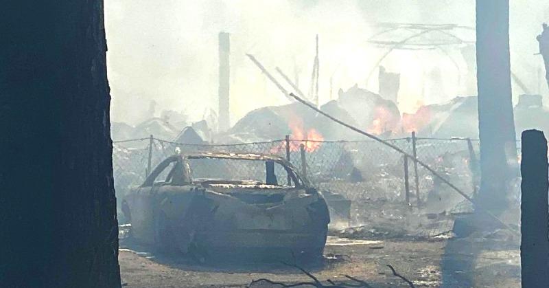Burnt Structure Calpella LaFever